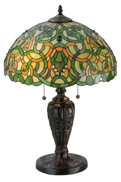 "25.5""H Scroll & Jewel Table Lamp"