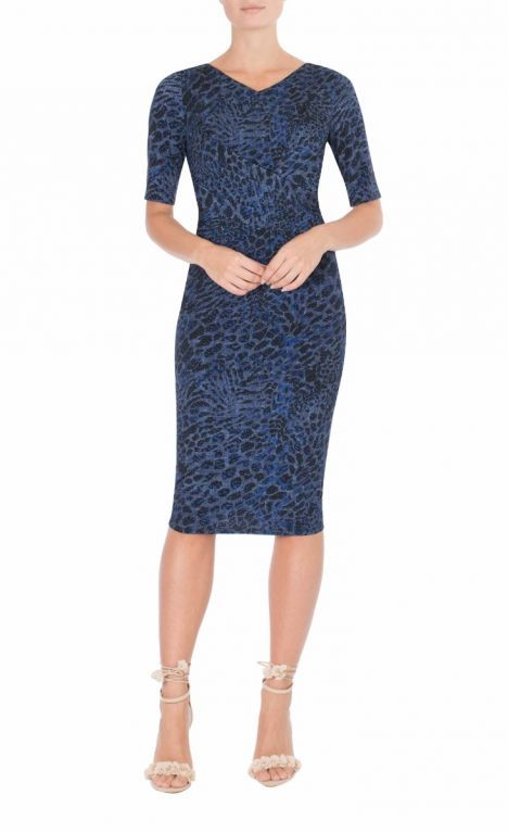 9 To 5 Style | Wild Indigo Jersey Dress