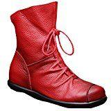 Amazon Angebote Vogstyle Damen Stiefel Weiches Leder Stiefeletten Gefüttert: Vogstyle Marke wird nur durch Voguees…%#Quickberater%