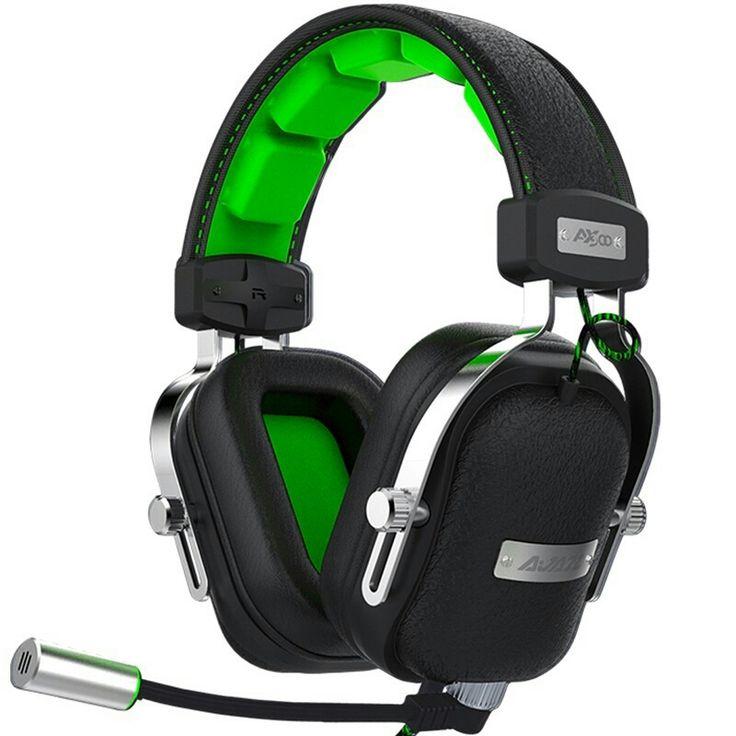 Original Ajazz AX300 Turbo Bass Gaming Headphone Subwoofer Headset with Detachab #headset #gameset #greenheadphones