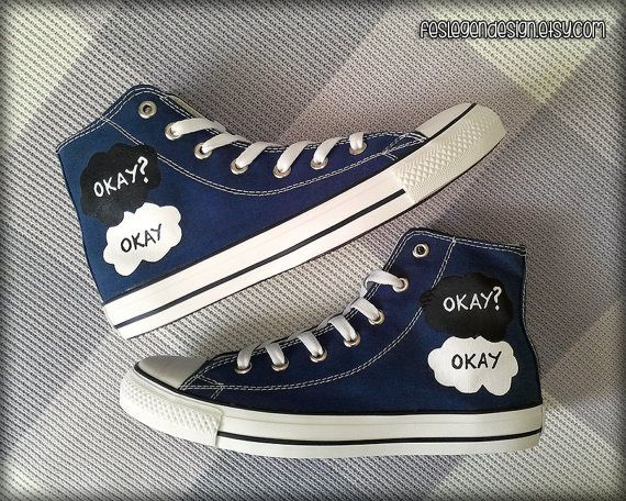 Fault in Our Stars Converse https://www.etsy.com/listing/195671186/okay-okay-painted-shoes-custom-converse