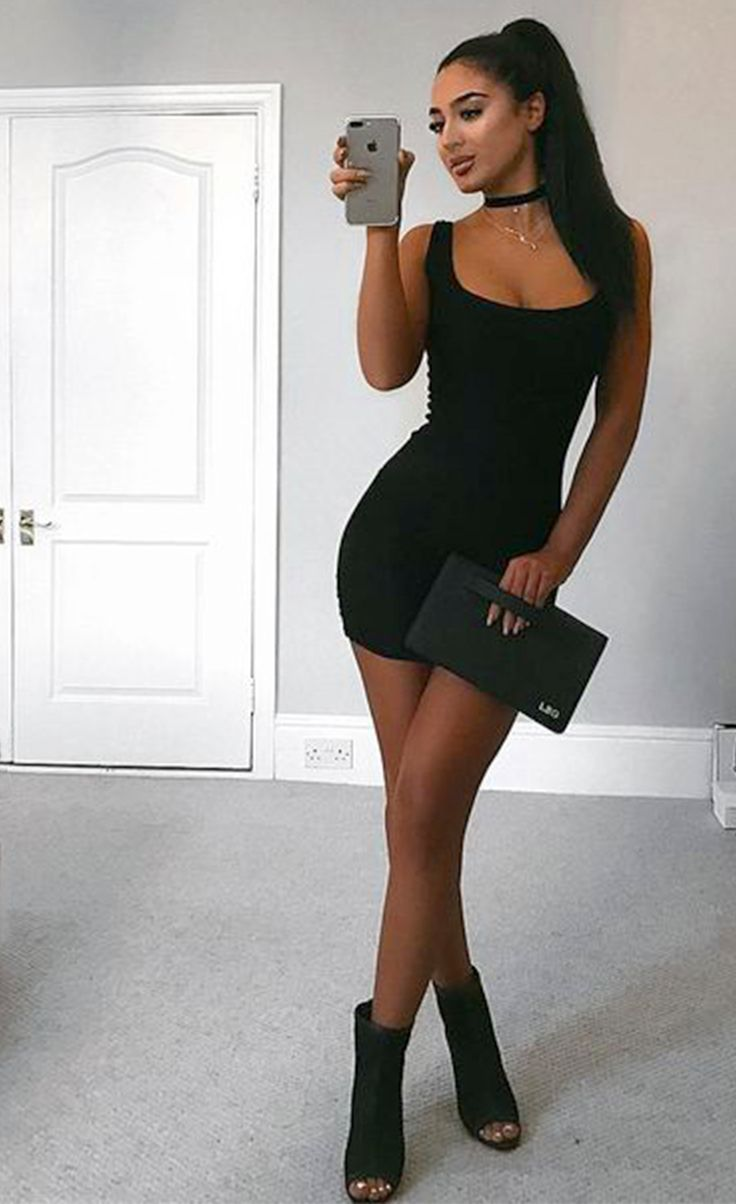 $24.99 Scoop Neck Body-hugging Mini Tank Dress