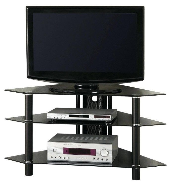 Modern TV #Stands Corner Unit Glass 3 Tier #Entertainment Shelves Contemporary  #ShoppingOnlineDeals #DanAnnStore #Buyablepins #Furniture  #Modern