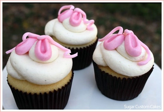 Beautiful ballerina cupcakes.