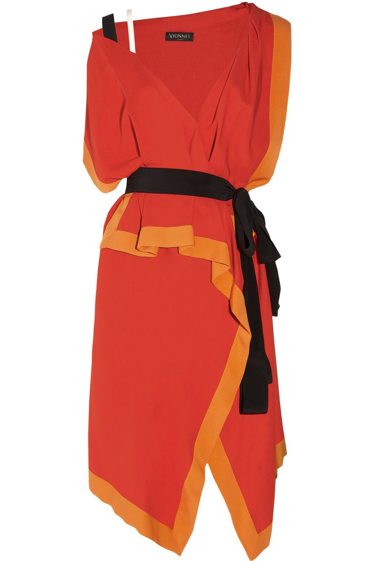Something I like about this dress.  One-shoulder stretch-crepe dress by Vionnet