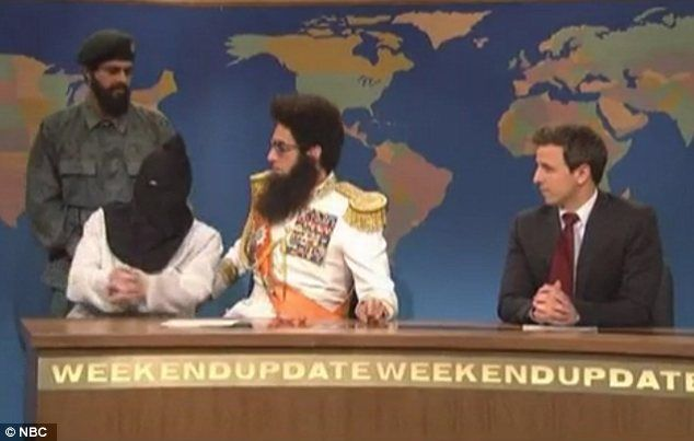 Causing a stir: Sacha Baron Cohen's The Dictator character 'kidnaps' Martin Scorsese in SNL skit