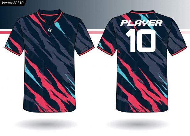 Download Sports Jersey Template For Team Uniforms Premium Vector Freepik Vector Mockup Kids Templat Sport Shirt Design Sports Tshirt Designs Sports Jersey Design