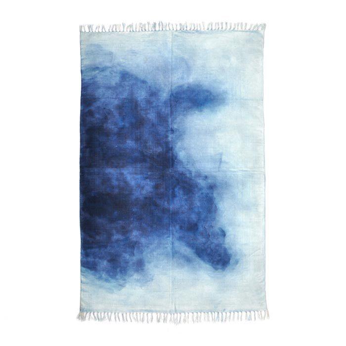 handwoven + hand-dyed indigo rug