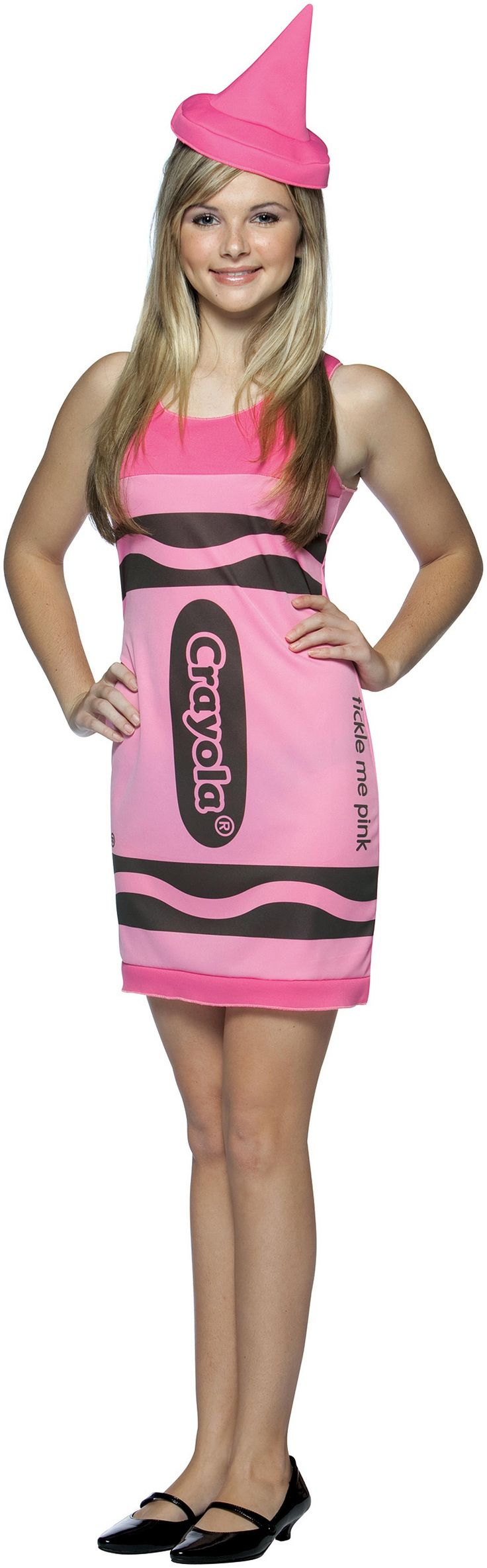 PartyBell.com - Tickle Me Pink Crayola Crayon Teen #Costume