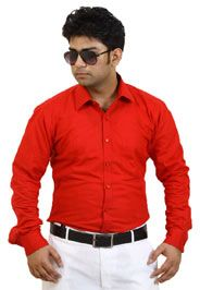 http://tinyurl.com/z5x5tuu Buy Online SIERA Red Cotton Party Wear Shirts For only on GetAbhi.com