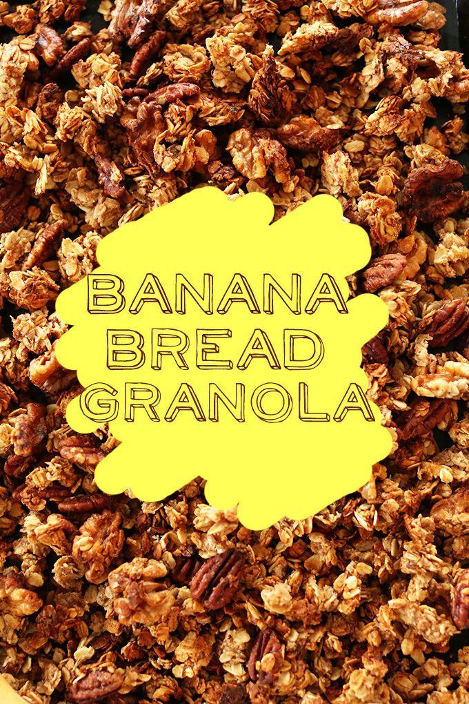 Banana Bread Granola! via MINIMALISTBAKER.COM #vegan #glutenfree optional