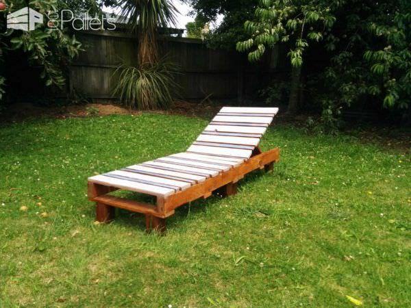Pallet Garden Lounger Lounges & Garden Sets
