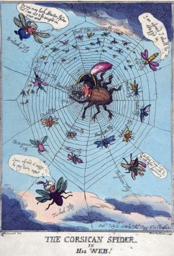 19th-Century-British-Anti-Napoleon-Anti-French-Political-Cartoon-Poster-A3-Print
