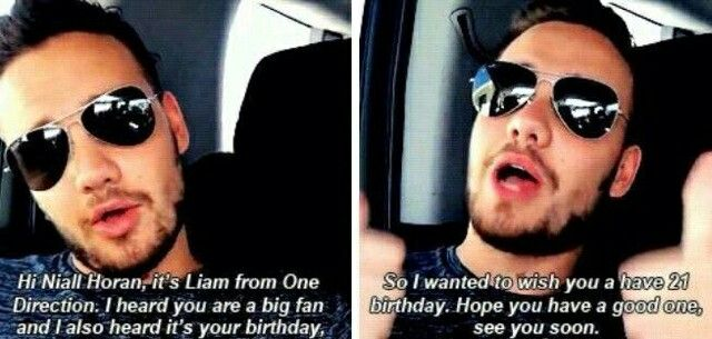 """LIAM MADE A HAPPY BIRTHDAY VIDEO FOR ONE OF HIS FANS HOW CUTE."" Dying. -H"