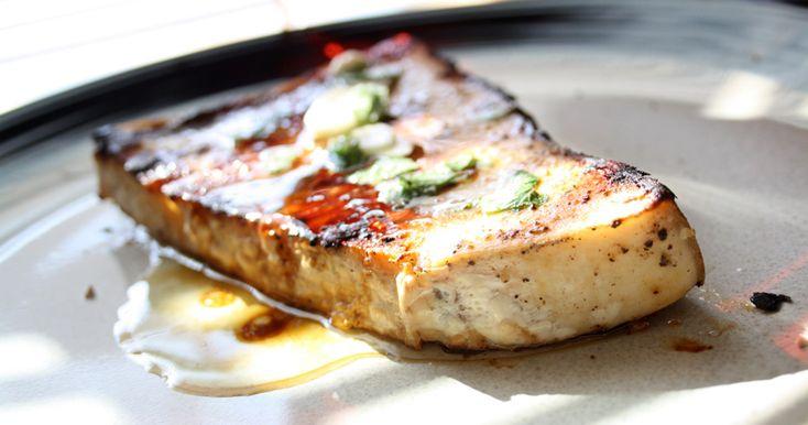 Project Jamie: pesce spada alla griglia con la salsa digiovanna