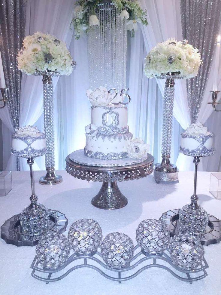 25 Best 25th Wedding Anniversary Cakes Ideas On Pinterest