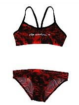 SLIX Red Tetron Bikini $65