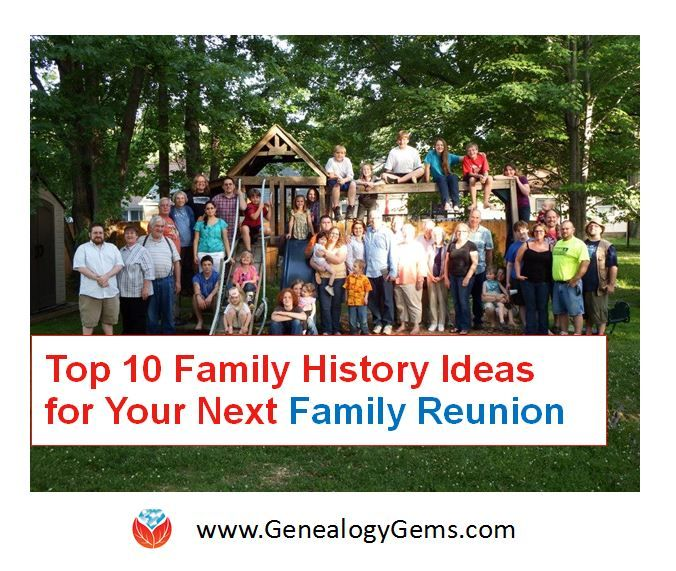 Who's planning your next family reunion? Why not share this post with them?