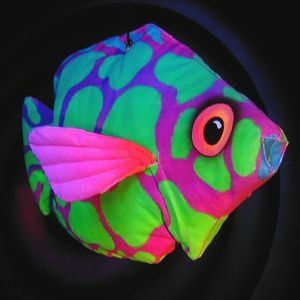 Fluro fish OMG....I want a pair of harem pants out of this (in fabric!)