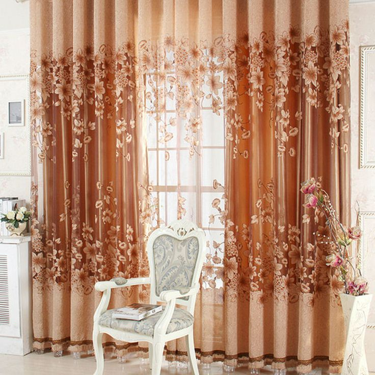 Luxurious Upscale Jacquard Yarn Curtains Tulle Voile Door Window Curtains  Living Room Bedroom Decor E5M1 Part 91