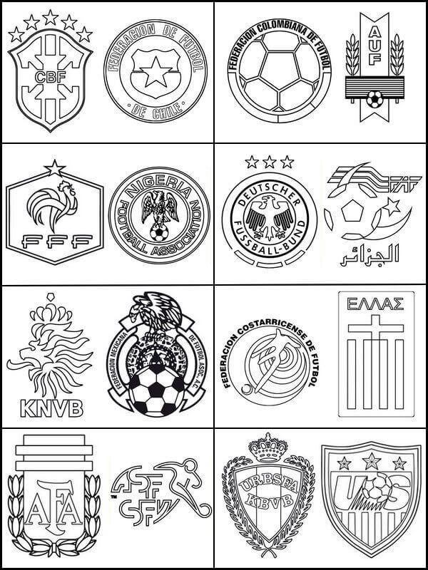 Fifa World Cup Teams Coloring Page Flag Coloring Pages Coloring Pages Sports Coloring Pages