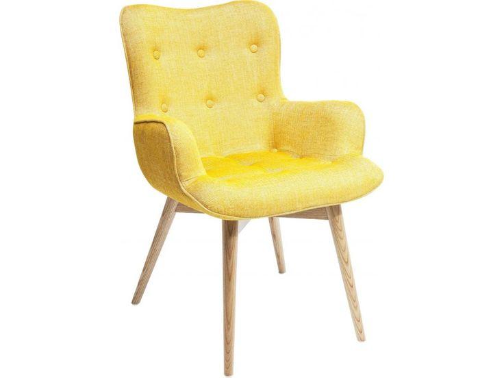 Krzesło Angels Wings Rhythm z Podłokietnikami żółte — Krzesła Kare Design — sfmeble.pl