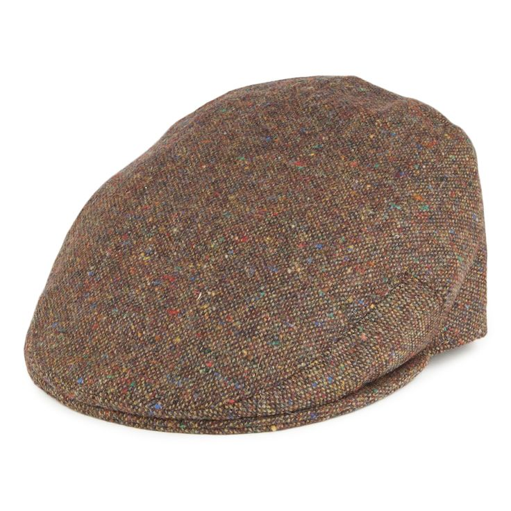 Olney Hats Kinlock Donegal Tweed Flat Cap - Copper from Village Hats.