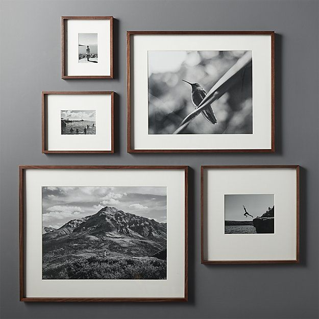 Gallery Walnut 11x14 Picture Frame Reviews Cb2 In 2020 Picture Frame Gallery Picture Gallery Wall Picture Frame Wall