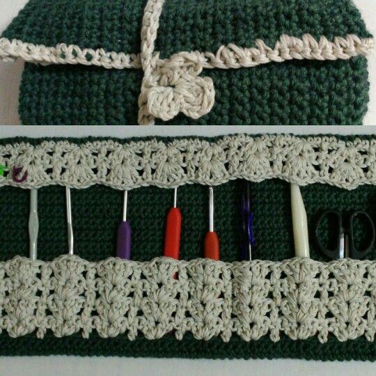 Porta agujas crochet