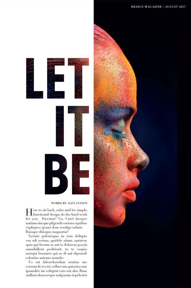 Minimalistische Typografie auf Ihren Layouts – Magazine Design