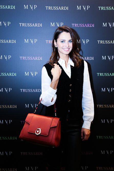 Anna Safroncik at the #MVPforTrussardi event in Rome. #MVPCreations #Trussardi
