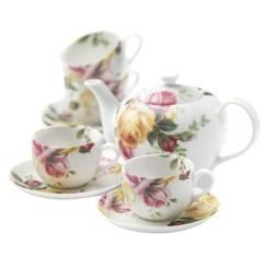 Royal Albert by Royal Doulton Royal Albert Country Rose 9 Piece Tea Set