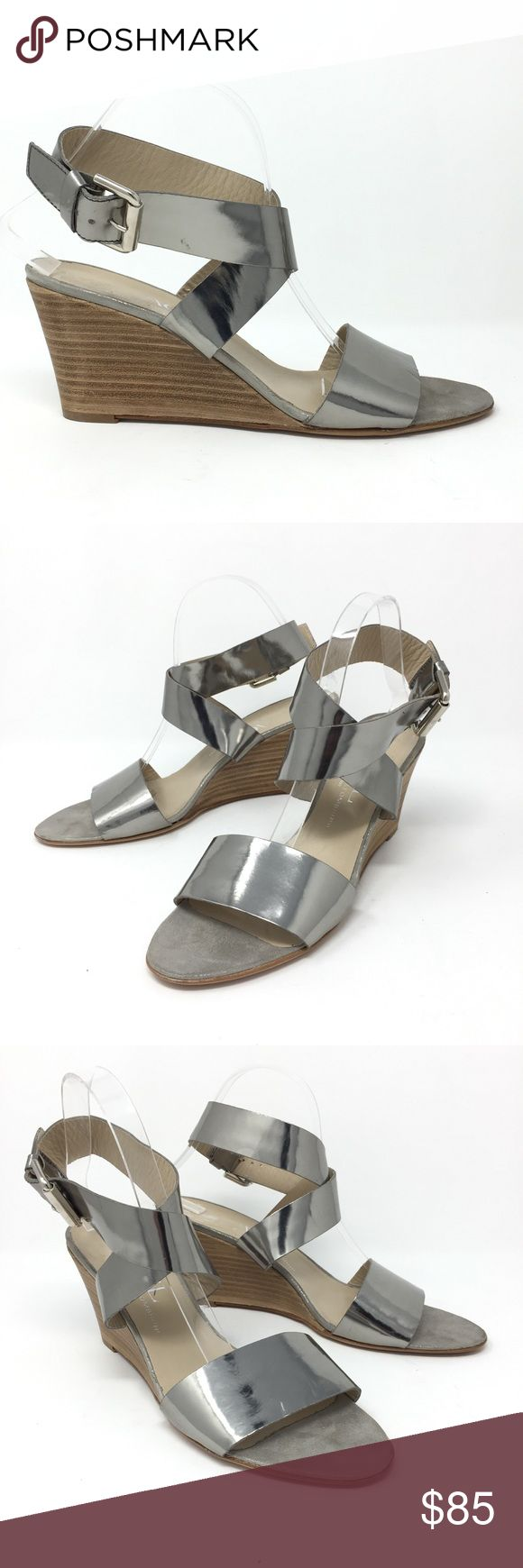 AGL Silver Ankle Wrap Wedge Sandals Sz 41 US 11 AGL Attilio Giusti Leombruni Silver Ankle Wrap Wedge Sandal women's Sz41 US 11  Size: 41 US 11 Color: Silver  In excellent preowned condition with no known flaws and light overall wear. Agl Shoes Wedges