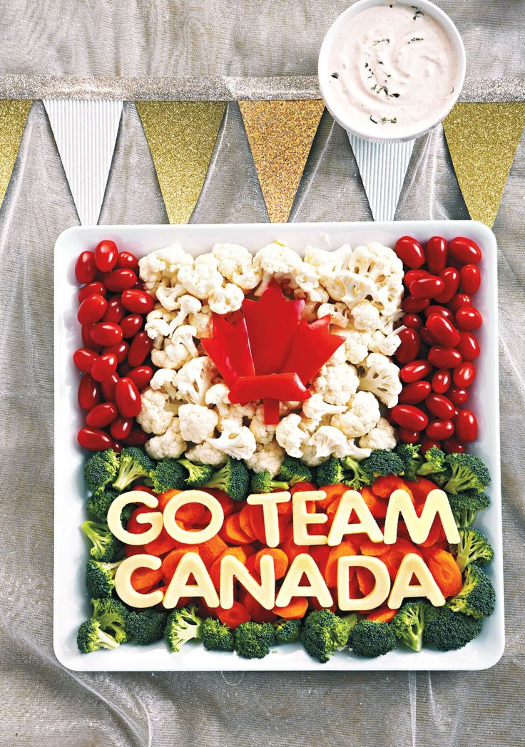 Fuel up for a fun night of cheering on Team Canada with a beautiful, colourful and patriotic appetizer tray. Here's how to make one.