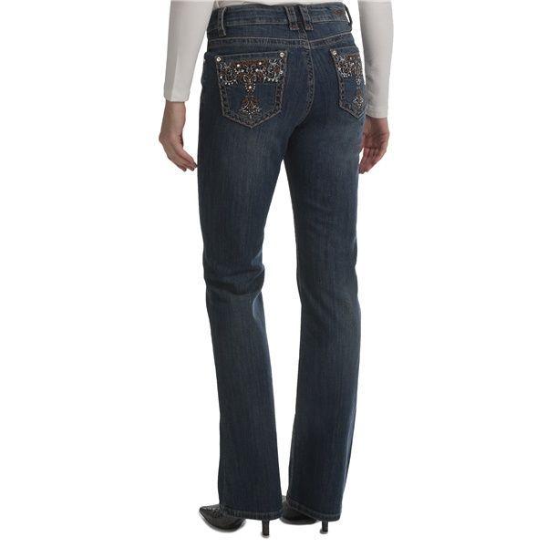 $49.95 Ethyl Back Pocket Bling Jeans - Bootcut (For Women) in Vintage Wash