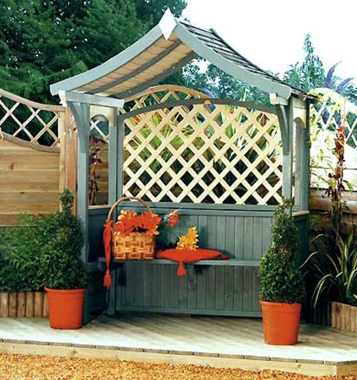 wooden gazebo for the garden