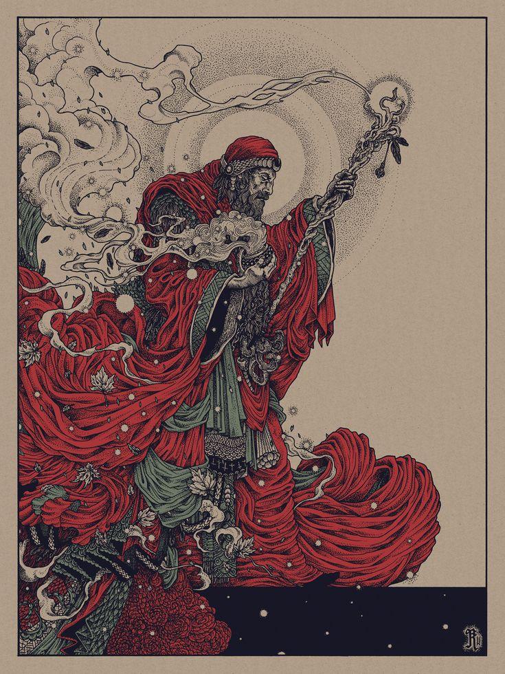 Black Sabbath - ''The Wizard'' -- Richey Beckett  Flood Gallery's Black Sabbath Art Show