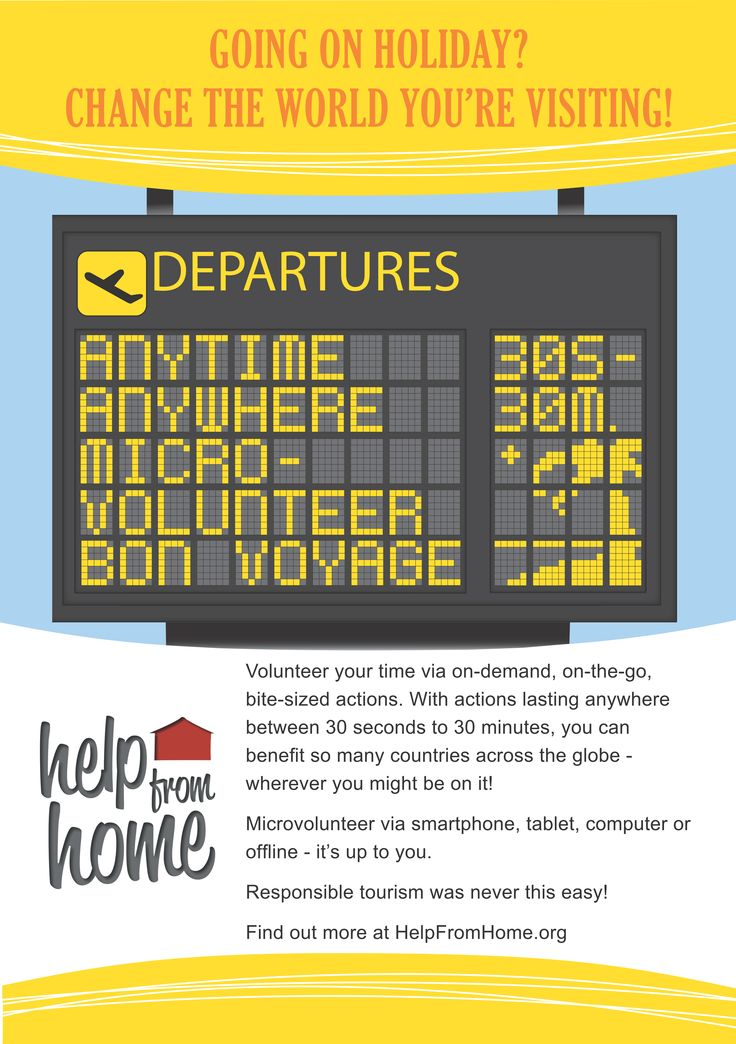 Going on holiday? Change the world you're visiting just by microvolunteering helpfromhome.org