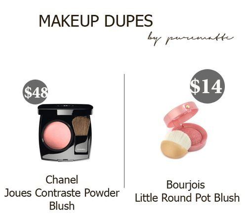 purematte : Dupe alert ! #dupes #chanel #bourjois #blush #makeup #beauty