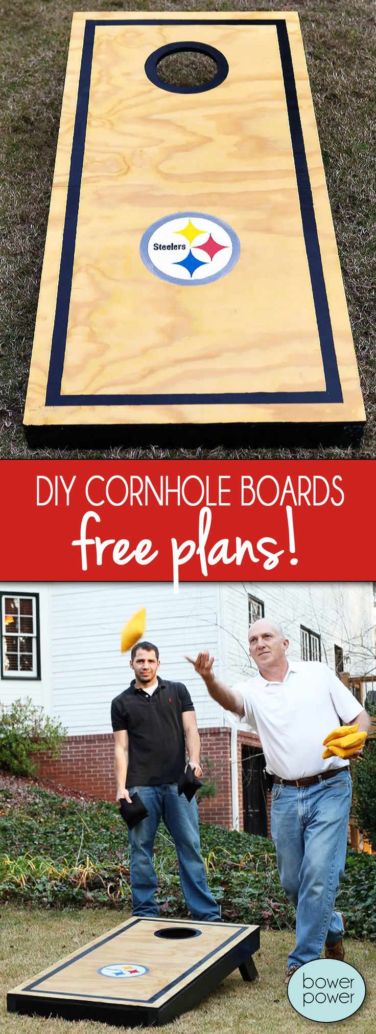 DIY Cornhole, great gift idea for guys! - Bower Power