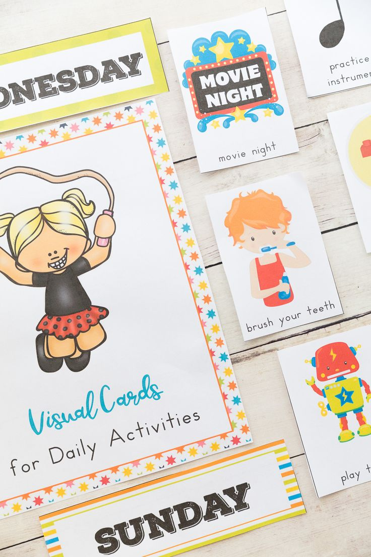 The Ultimate Daily Visual Schedule Bundle, Picture Cards, Autism, Visual Schedule Printables for the whole year, Autism Visual Cards, Picture Cards for Kids #Autism #autismmom  #organization