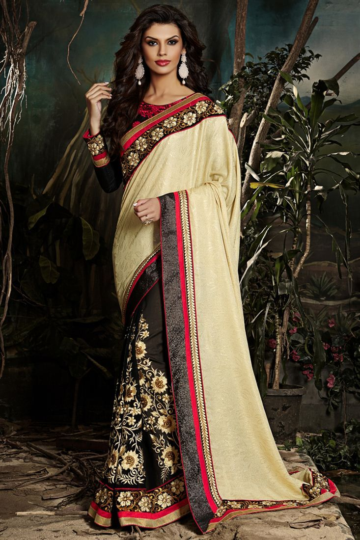 Formidable Cream Color Designer #Saree to buy hurry up..