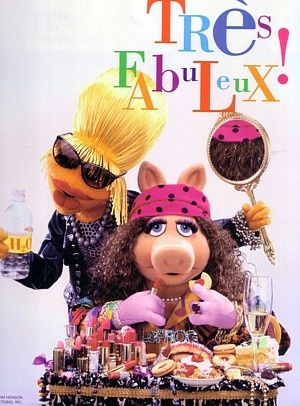 Oh my god! A Muppets spoof of Ab Fab! Whoa! (: Janice as Patsy and Miss Piggy as Eddy