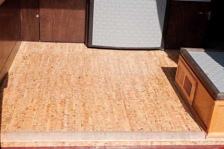 Diy Flooring Campervan Conversion Cork Flooring Www