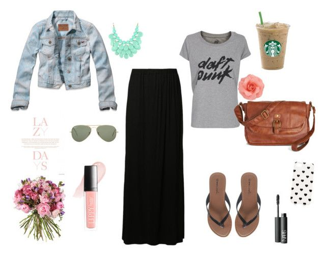 Lazy days by junesdagbokpoly on Polyvore featuring ElevenParis, Glamorous, Wet Seal, Ray-Ban, Forever New, Butter London, NARS Cosmetics and Hollister Co.