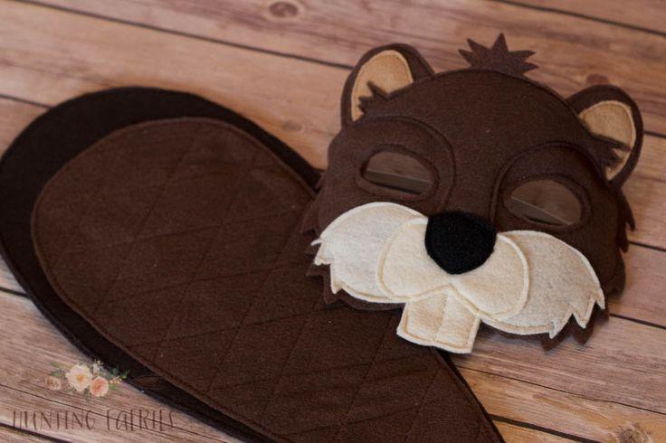 Bucky y máscara de fieltro de castor de Bev y por HuntingFaeries