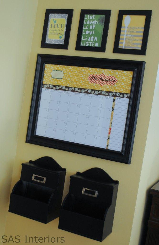Command Center.Family Command Centers, Central Command, Crafts Ideas, Era Calendar, Personalized Dry, Organic Ideas, Families Calendar, Dry Erase Calendar, Diy Dry