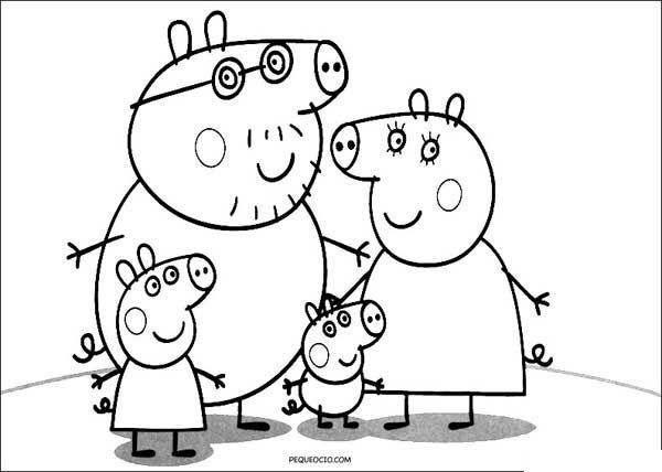 Dibujos De Peppa Pig Para Colorear Pequeocio Peppa Para Pintar Dibujo De Peppa Pig Peppa Pig Para Colorear