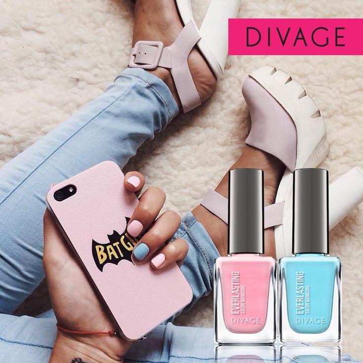#divage #nail #blue #fashion