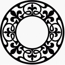 "Circular scroll saw pattern - This free scroll saw pattern come from the book ""Stencil and Block-print Designing; Leather and Metal-work Designing"" (International Correspondence Schools; published in 1916)."